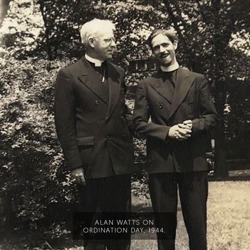 Alan Watts on ordinatino day. (1944)